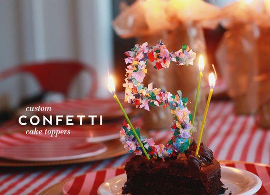 DIY Custom Confetti Cake Toppers