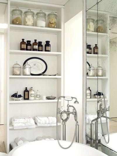 Apothecary bathroom storage