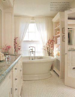 White Interior Decor   Lovely tub--the perfect bathroom