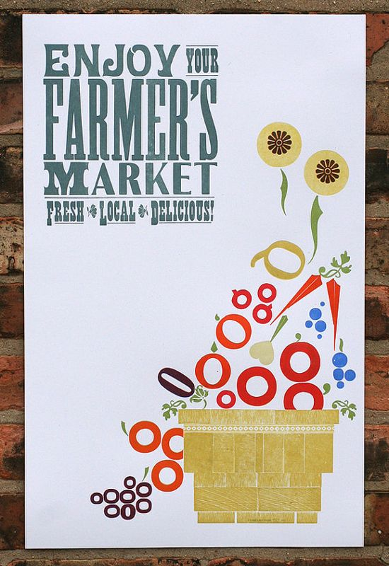 Enjoy Your Farmers Market letterpress poster $35