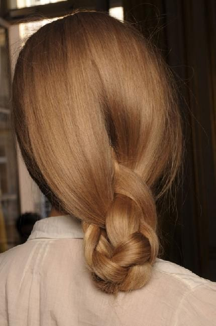 loose braided knot bun