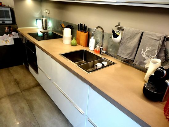 plan de travail b ton balian b ton atelier. Black Bedroom Furniture Sets. Home Design Ideas