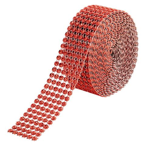 Red Wide Diamond Wrap