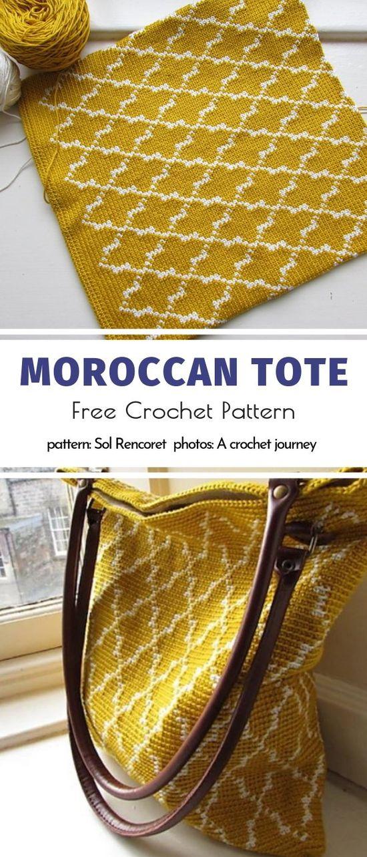 Moroccan Tote Free Crochet Pattern