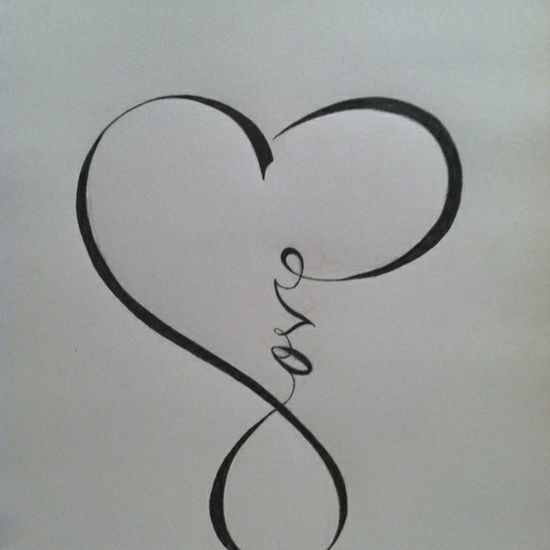 infinity. I love this. my wife wants this as a tattoo