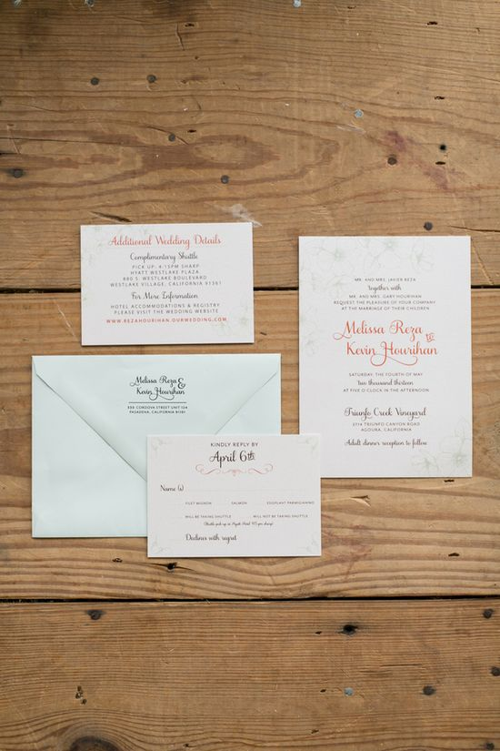 romantic wedding invitations // photo by Chris + Jenn Photography // styling by Styling Starts Here // view more: ruffledblog.com/...