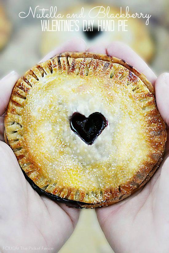 Nutella & Blackberry Valentine's Day Hand Pies