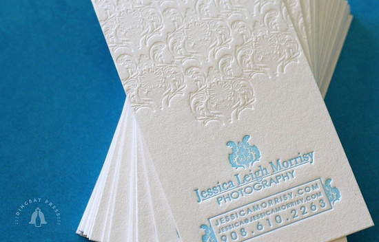 Jessica Morrisy Letterpress Business Cards by Dingbat Press, via Flickr