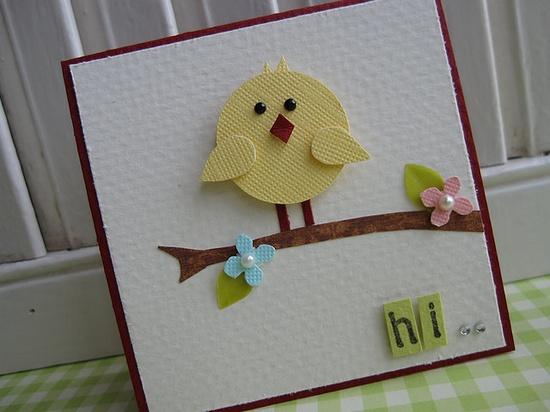 Sweet Baby Bird Mini Card