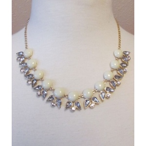Angel of Mine Necklace in Ivory - $27.00 @ www.shopciaobella...