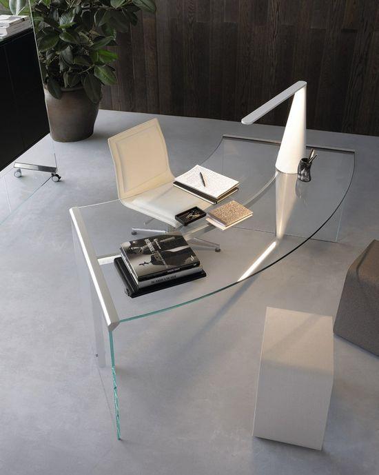 Crystal office desk by Gallotti & Radice