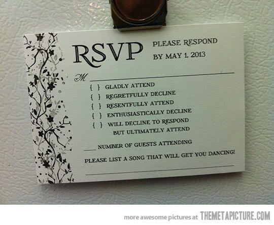 Proper wedding invitations… hahaha...