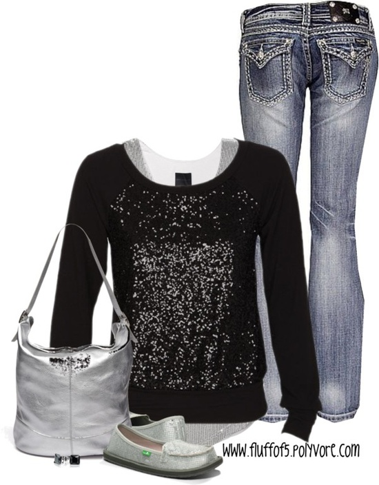 """sequin sweatshirt"" by fluffof5 on Polyvore"