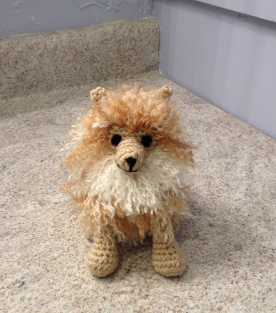 Pomeranian  Stuffed Animal  Amigurumi  Toy by meddywv on Etsy, $30.00