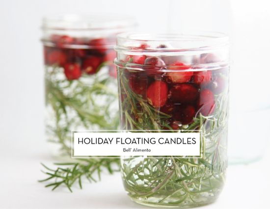 25 DIY HOLIDAY DECOR PROJECTS – Holiday Floating Candles