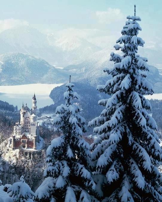 Neuschwanstein Castle in Bavaria West Germany.