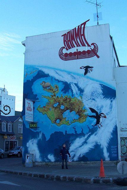 Reykjavik... map mural
