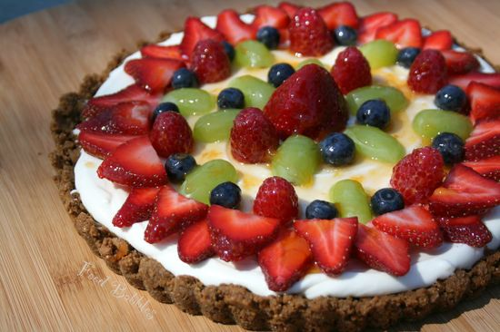 Fresh Fruit Tart with Gingersnap Crust