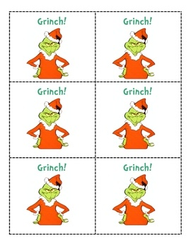 Grinch is based on the game Bang! Players draw a card from the container. If they can answer the card they keep it. If a Grinch card is drawn the p...