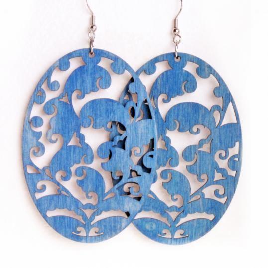 "Handmade Earrings ""Nothern Dvina"" - blue"