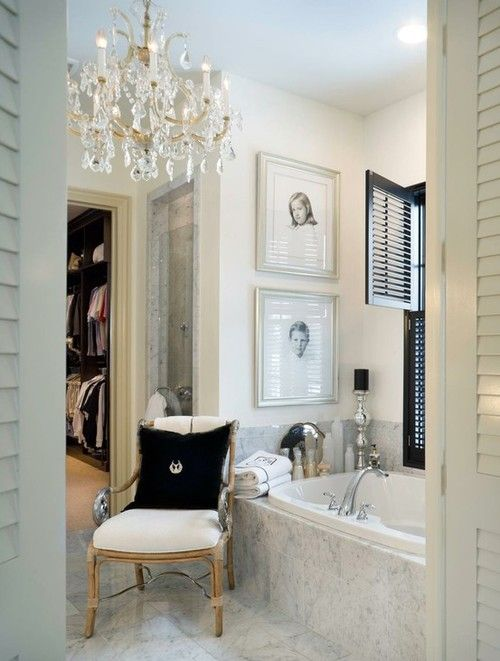 elegant black and white bathroom