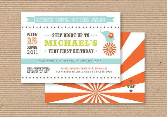 carnival birthday invite.