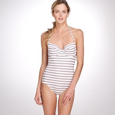 striped swimsuit - jcrew