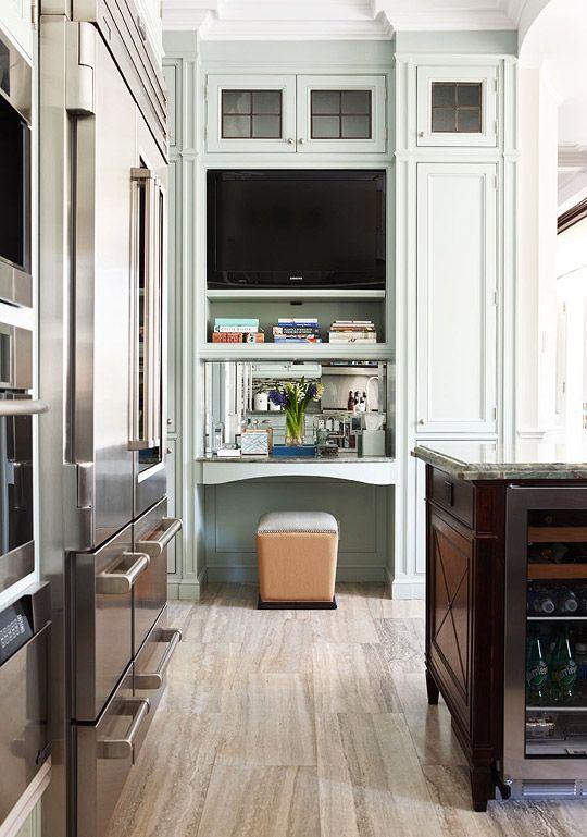 desk nook in kitchen