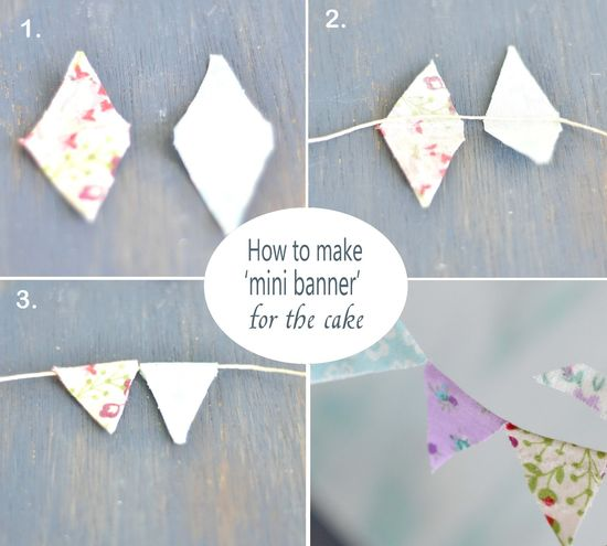 Curiositaellya: How to Make Mini Banner Topper for a Cake {DIY}
