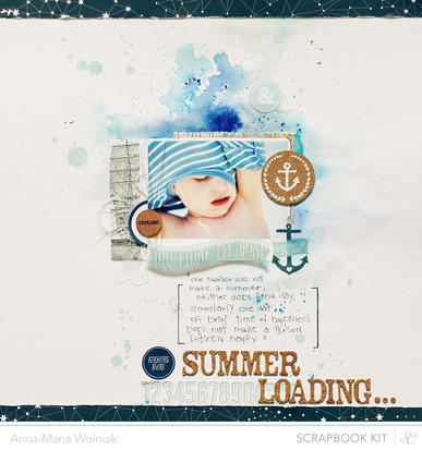 layout by Anna-Maria Wolniak featuring the Studio Calico ATLANTIC line