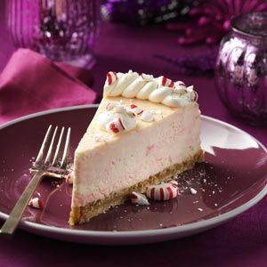 Peppermint Candy Cheesecake Recipe from Taste of Home - LOVE CHEESECAKE!