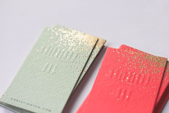 sparkly business cards
