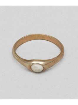rose gold and bone ring