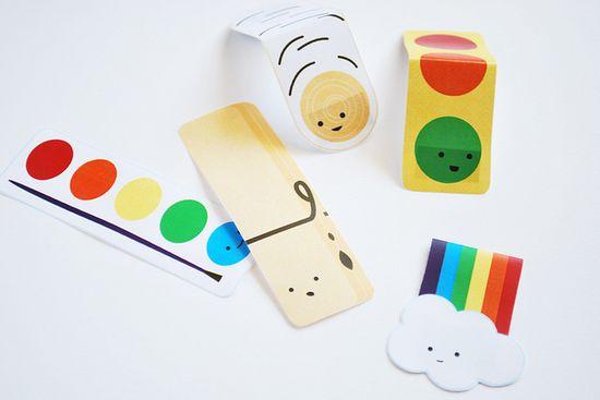 DIY printable . magnet clips