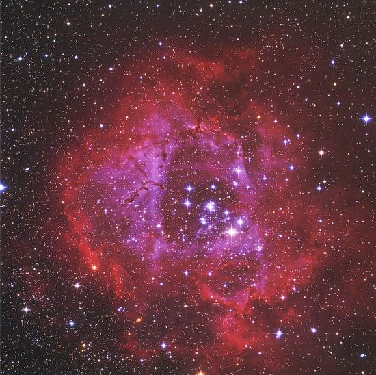 Rosette Nebula in RGB & HA