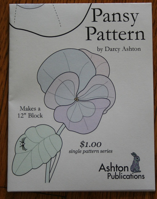 Pansy Quilt Block Pa