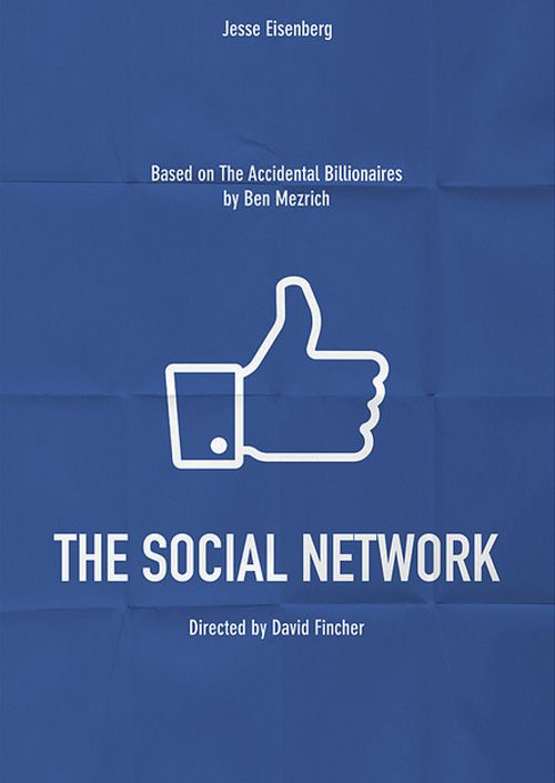 Minimalist movie posters: The Social network