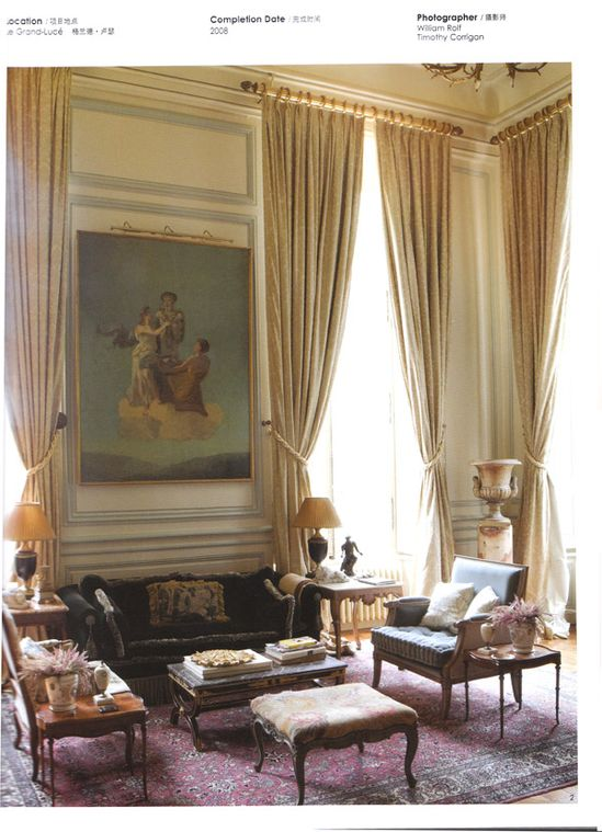 My home design collections press interior design news for Classic french home design