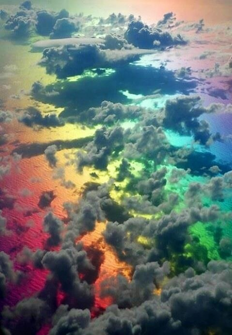20 Rainbow Clouds Ideas Rainbow Cloud Clouds Rainbow