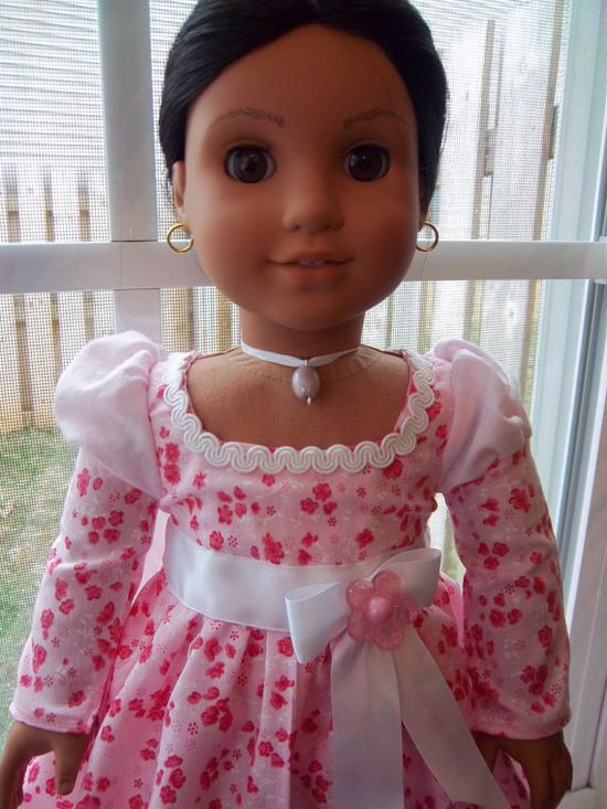 American Girl doll Valentine dress and necklace by BritishBelles, $20.00