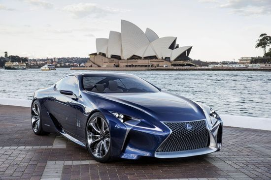 Lexus LF-LC Blue.  Yikes!  That's cool.
