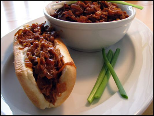 "Pulled Pork ""Barbecue"" with Apple BBQ Sauce Recipe » Cooking by the seat of our pants"