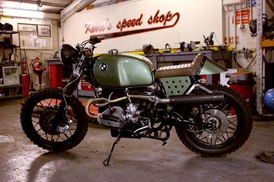 "1980 BMW R100RS Scrambler. Nicknamed ""Sarge"" and built by the BMW motorcycle custom house Kevil's Speed Shop."