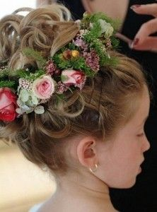 updo Kids Flower Girl Hairstyles 222x300 updo Kids Flower Girl Hairstyles