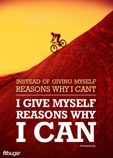 Instead of giving myself reasons why I can't, I give myself reasons why I can. #fitness #motivation #inspiration