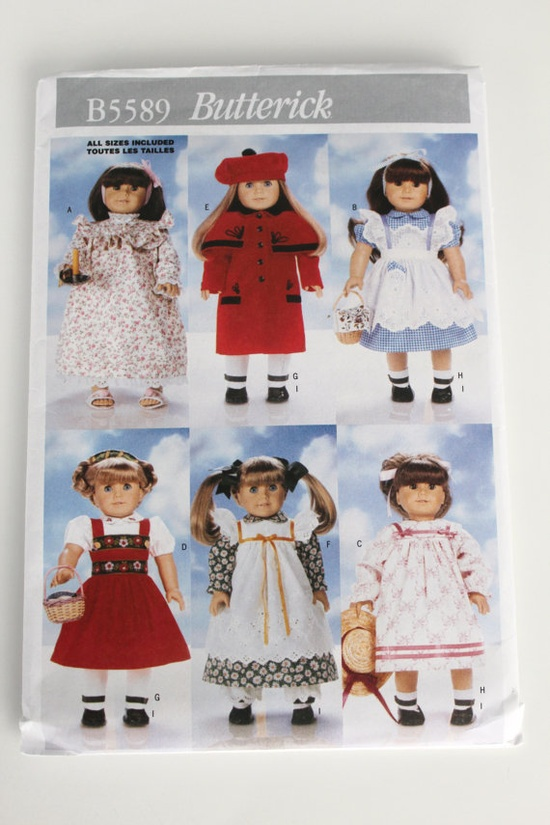American Girl Doll dress pattern New by purrfectstitchers on Etsy, $7.00