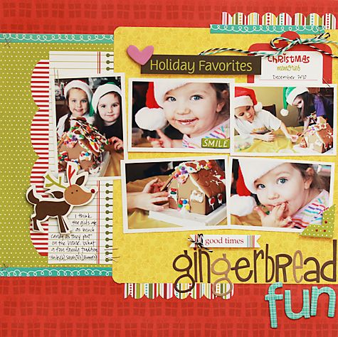 #papercraft #scrapbook #layout    Gingerbread Fun