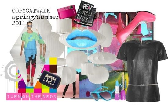 """""""Natural Coloring: Cool Summer, Clothing Style:Gamine, Fashion Season: Spring/Summer 2011"""" by copycatwalk on"""