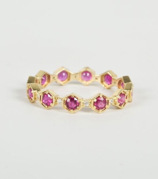 Carina Ruby Band with Diamonds. Shop at www.catbirdnyc.com.