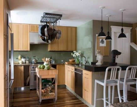 Compact fresh kitchen interior design